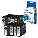 ECSC kompatibel Tinte Patrone Ersatz für Canon MAXIFY MB2050 MB2150 MB2155 MB2350 MB2750 MB2755 PGI1500XL (B/C/M/Y, 8-Pack)