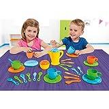Unbekannt Farbenfrohes Geschirrset für Kinder ab 2 Jahren, 32 teiliges Set • Spielzeug Puppengeschirr Spielgeschirr Geschirr Kinderküche Zubehör