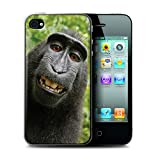 Stuff4 Coque de Coque pour Apple iPhone 4/4S / Selfie Babouin Design/Animal Drôle...