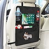 Auto Rückenlehnenschutz– Intipal Rücksitztasche Rücksitz Organizer Rückenlehnentasche mit iPad-Fach Wasserdicht 1 Stück(Zebra)