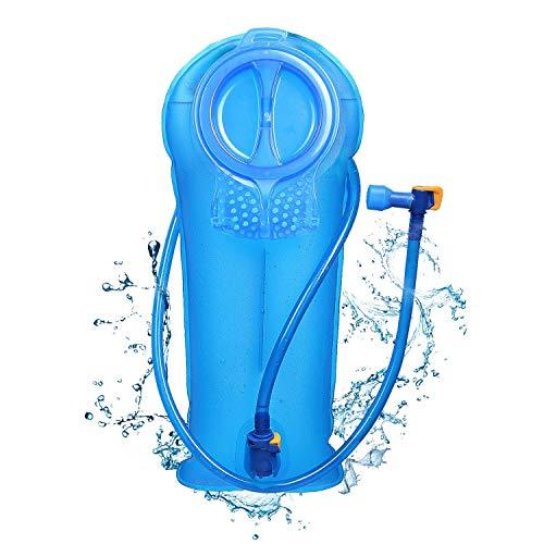 Unigear Trinkblase, 2L, 2,5L, 3L Hydration Blase staubdichte und antimikrobielle Hydration Bladder Wasserblase Trinkbeutel Wassertank mit Schlauch ALS Trinksystem MEHRWEG (3L-Blau) (Trocknen, Eiswürfel In Getränken)