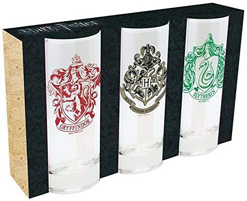 Harry Potter Logos Trinkglas klar