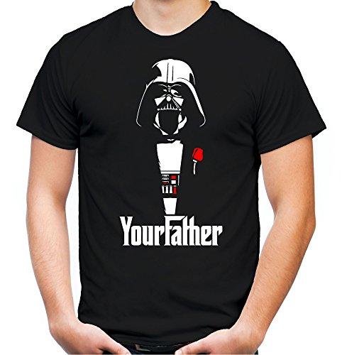 Your Father Männer und Herren T-Shirt | Spruch Vintage Empire Geschenk (L, Schwarz) (Anzug Boba Fett)