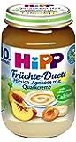 Hipp Pfirsich-Aprikose mit Quark-Creme, 6-er Pack (6 x 160 g) - Bio