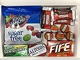 Kurious Kandy Zuckerfreie Sortenkiste | Zuckerfreie Geschenkbox Auswahl | 6 Artikel in einer freundlichen Kandy-Briefkasten-freundlichen Geschenkbox.