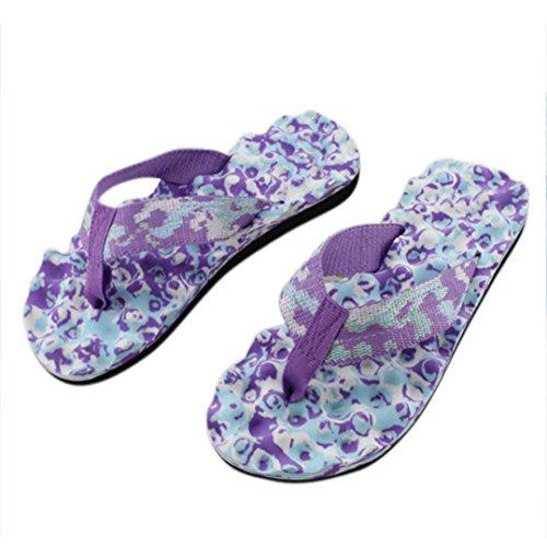 UFACE Slipper Lady Camo Flip Flops Schuhe Sandalen Slipper Indoor & Outdoor Flip-Flops (40, Metallische Beeren Lila)
