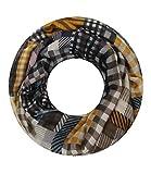 Majea super weicher Damen Loop Schal viele Farben Muster Schlauchschal Halstuch in aktuellen Trendfarben (senfgelb 8)