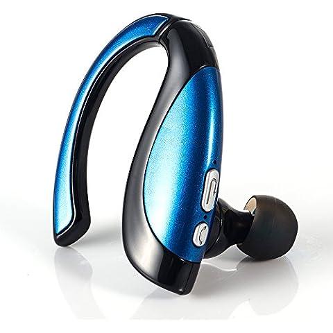 GRDE® Auriculares Bluetooth 4.1 ergonómicos auriculares con micrófono Cascos Bluetooth Manos Libres para iPhone, iPad, Samsung y Otros Teléfonos Móviles Android (Azul)