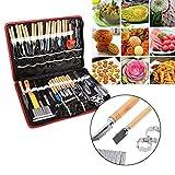 80 PCS/Set Culinaire Carving Peeling Outils Kit pour Légumes Fruits Garniture Coupe Trancheuse
