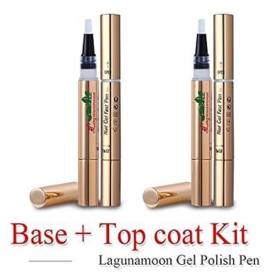 Gel Nail Polish Pen,Base Coat,Soak Off UV LED gel,Lagunamoon TO-GO gel polish