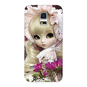 Cute Angel Look Doll Back Case Cover for Galaxy S5 Mini