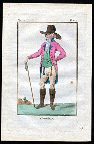Anglais - Engländer Brite Großbritannien England costume Kupferstich Tracht antique (Tracht Von Großbritannien)