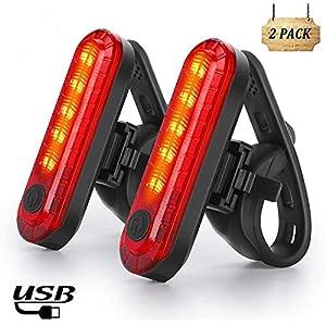 511N90U02uL. SS300 Nestling Luce Posteriore Bici USB Ricaricabile, luci Anteriori potenti per Biciclette LED, IP65 Impermeabile con 4…