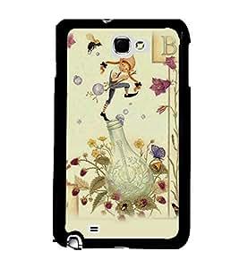 Fuson 2D Printed Cartoon Designer back case cover for Samsung Galaxy Note 1 N7000 - D4317