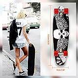Qulista Cruiser Board 27 Zoll aus 9 schichte kanadischem Ahornholz mit ABEC-7 Kugellager viele Muster Skateboard für Jungen Mädchen Erwachse 71,5 x 19cm (1)