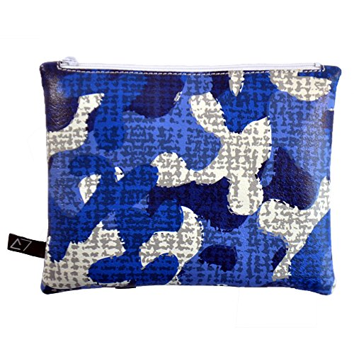 Derriereitalia Pochette_DL_3_BLUE CAMUFLAGE - Riñonera Azul Blu, Azzurro, Bianco, Grigio 18.5 x 14.5 x 2 cm