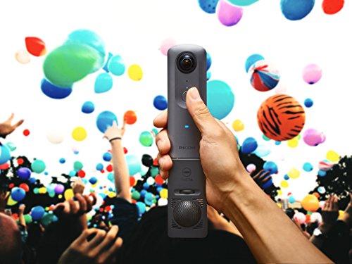 Ricoh Theta V Fotocamera e Videocamera per Immagini Sferiche a 360°, Video 4K, Audio 360°, Grigio Metallizzato