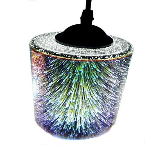 Pendelleuchten, 3D Feuerwerk Ball Glas Schatten ausgesetzt LED Deckenleuchten Kronleuchter for Home Office Schlafzimmer (Color : A)