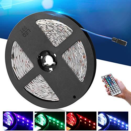 Anten LED Strip RGB 5m selbstklebend LED Licht Streifen Bunt, SMD 5050 Leds Lichtband Leiste Band Beleuchtung Lichtschläuche IP20 LED Streifen inkl. Fernbedienung, Netzteil