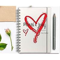 Hochzeitsplaner PERSONALISIERT Herz