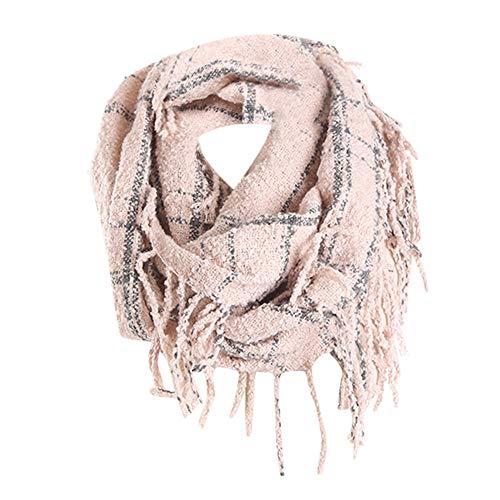 Tefamore Femmes Echarpe foulards longue de cou de châle de laine de  cachemire de point coloré 591abd3cd6c