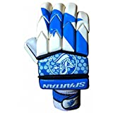 #8: Spartan MSD Helicopter Batting Gloves, White & Blue