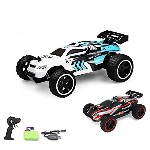 tes Auto,RC Auto 1:18, High Speed RC Off Road Auto, 2.4 GHz 4WD Monstertruck für Kinder (Schwarz) ()