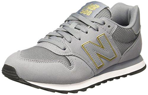 New Balance Damen GW500 Sneaker, Grau (Grey/gold/GW500GKG), 37.5 - Schuhe Lässig Womens Balance New