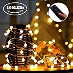 iihome, 36ft(11M) 60 LED String Outdoor IP65 Waterproof Solar Powered Crystal Ball Decorative Lighting 8 Modes for… 7
