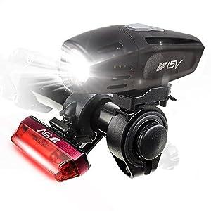 BV Set luci Bici Ricaricabili USB, fanale Anteriore Super Luminoso e fanale Posteriore per Bicicletta a LED, Batteria al…