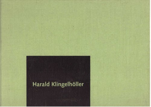 Harald Klingelholler por Catherine Lampert