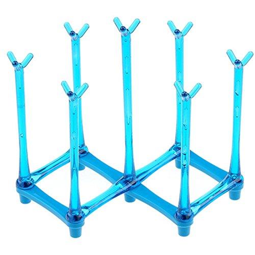 Biberon Egouttoir Sèche Bouteille Verre Tasse Séchage Rack Support (Bleu)