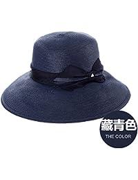 El verano quitasol Cap black face sunscreen playa cap pajarita elegante  sombrero de paja fresca marina 45ba3737a21