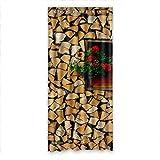 """De lujo huntgold DOUBEE arte de madera cenefa de cortinas de oscurecimiento de 127 cm x cm 274,32, 127 cm x 274 cm (una sola pieza), poliuretano, E, 50""""x108"""""""