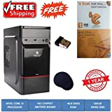 COMPUCARE365TM, Assembled Desktop PC| Intel Core I3 Processor| H61 Motherboard|4GB Ram| 500GB Sata| |Zebronics Cabinet| Free Escan Antivirus|
