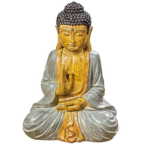 Furniture, decoration - Statue, Figure, Sculpture Buddha - style: ethnic - Color: Multicolored - Material: synthetic resin - approx 30 cm