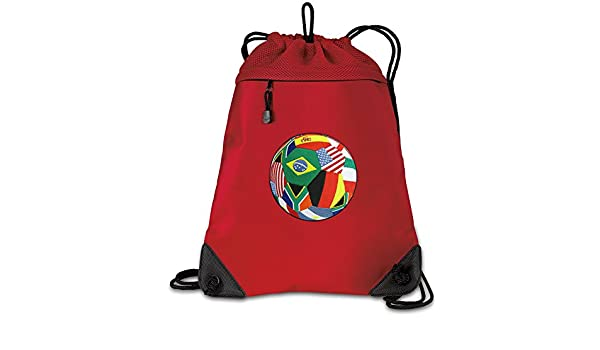 Broad Bay Soccer Drawstring Backpack 100/% COTTON World Cup Fan Cinch Bag