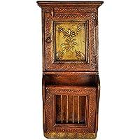 Lalhaveli decorativo handmade Portariviste da Parete in Legno Armadietto portachiavi a schermo piatto