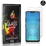 LG G7 ThinQ Displayschutzfolie, Bear Village® 9H Härte Schutzfilm aus Gehärtetem Glas, Anti-Öl Displayschutz Schutzfolie für LG G7 ThinQ, 2 Stück