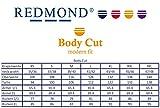 Redmond - Body Cut - Bügelleichtes Herren Langarm Hemd (150110), Größe:XL;Farbe:Weiß(0)