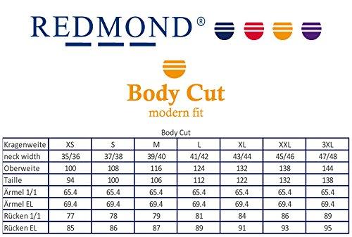 Redmond Hemd Body Cut mit modernem Kent Kragen und Kontrast in verschiedenen Farben Marine (Farbnummer: 14)