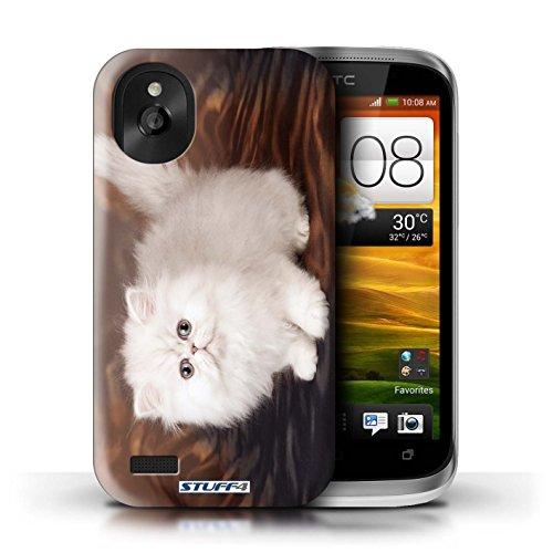 Kobalt® Imprimé Etui / Coque pour HTC Desire X / Blanc et moelleux conception / Série Chatons mignons Blanc et moelleux