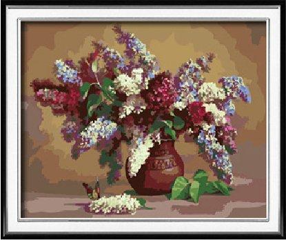 DIY steuern Dekor digitalen Leinwand Ölgemälde von Nummer Kits Lilac