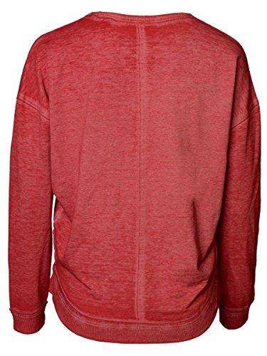 DAILY'S JENNA Damen oversize Sweatshirt mit Rundhalsausschnitt und langen Ärmeln aus Baumwolle und Polyester - soziale fair trade Kleidung, Mode vegan und nachhaltig Color kir-royale, Size S - 2
