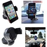 Support automobile orientable à 360° pour appareil électronique compatible avec les GPS TomTom, Garmin, Navman, Navigon, Pronav, etc.
