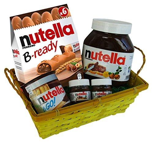 Geschenk Set Liebeszauber für Valentinstag, Muttertag und Geburtstag mit Ferrero Nutella Spezialitäten (5-teilig)