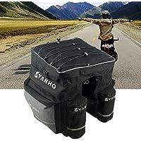 Bike Gepäcktasche 3-1-Rad Rucksack Regal Paket Bike Cycling Mountain Bike Pack Paket Regal Liefer Geräte mit regen Abdeckung, Multi-Pocket-Design für die Klassifizierung