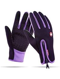 HIFUN 13357 hi-Call Frau lila Fingerhandschuhe Damenhandschuhe Handschuhe