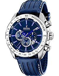 Festina Herren-Armbanduhr CHRONO SPORT Chronograph Quarz Leder F16489-B