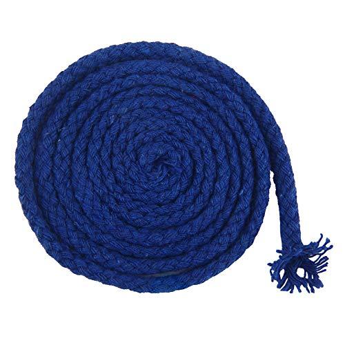 Nikgic 6 mm Baumwollseil Volltonfarbe Geflochtenes Seil DIY Handgemachte Dekoration Handgearbeiteter Teppich Hängende Verzierung Material 90m (Blau) (Blauen Teppich Und Seile)